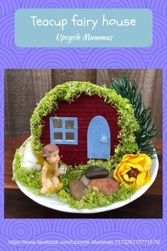 Have you seen our delightful fairy teacup houses? We sell these at local markets. Visit our page to see where we'll be next.
