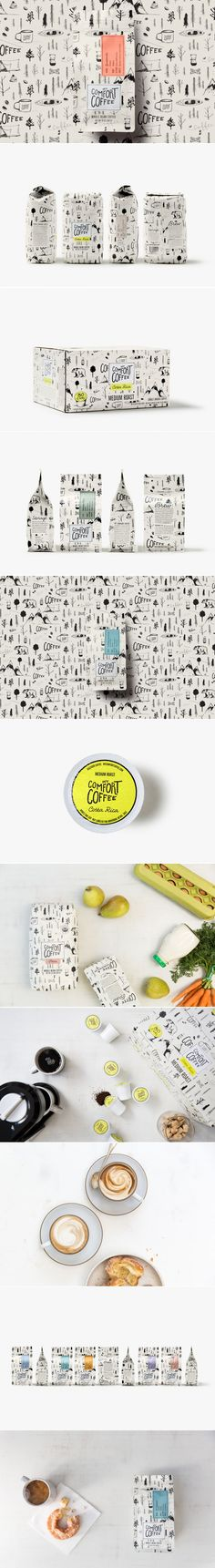 Mt. Comfort Coffee Comes With Adorable Illustrations — The Dieline | Packaging & Branding Design & Innovation News