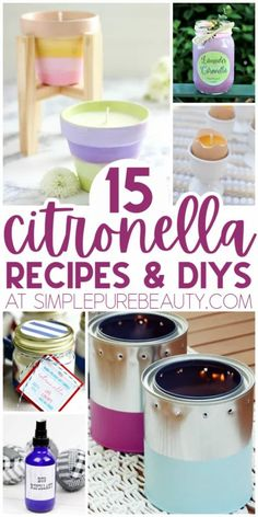 We've compiled a list of 15 DIY citronella candles, sprays, bracelets, and more for keeping insects outside of your comfort zone. Great for summer! If you're looking for a natural way to get rid of bugs, you're going to love this list of DIY options. Stop using harsh chemicals and make your own citronella recipes instead. Bug bracelets, sprays, and homemade candles are just a few of the simple DIY projects you can do at home. #cintronella #bugfree #bugspray #summerrecipes #keepbugsaway Diy Mosquito Repellent, Mosquito Spray, Homemade Candles, Diy Candles, Homemade Bug Spray, Citronella Essential Oil, Citronella Candles, Diy Baby Gifts, Homemade Christmas Gifts