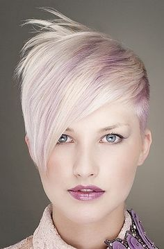 short blonde hairstyles with purple - Google Search