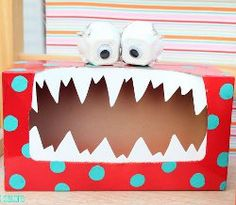"How to make a cute ""silly monster"" box to collect all your love notes!  #Valentine #craft"