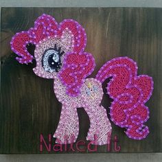 Etsy listing at https://www.etsy.com/listing/228816066/my-little-pony-pinkie-pie-string-art