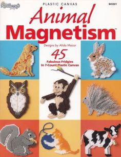 Animal-Magnetism-Plastic-Canvas-Pattern-Booklet-TNS-845501-Frigies-Magnets-NEW