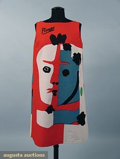 Picasso Print Paper Dress 1963 Augusta Auctions - OMG that dress!