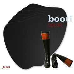 booti boot shaper BLACK -  adapts to every shape and size, avoids bending and creasing, keeps all leather and cloth boots in shape www.bootiUSA.com