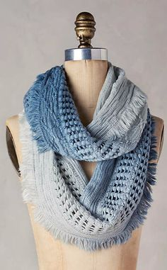Fringed Ombre Infinity Scarf #anthrofave