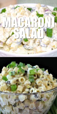Ham Salad Recipes, Salad Recipes Video, Lamb Recipes, Pasta Recipes, Cooking Recipes, Recipe Videos, Tasty Dishes, Food Dishes, Side Dishes