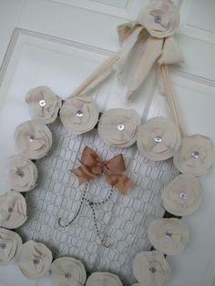 Chicken Wire & Cotton Canvas Millinery Flower Frame ~ Original Design by Suzanne MacCrone