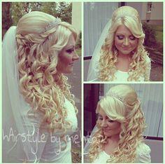 Image via We Heart It #bride #chiffon #couple #cute #diadem #Dream #hair #hairstyle #lace #love #princess #wedding