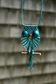 """I saved this because owl necklaces was the highlight of my """"macramé period.""""  I loved them and friends seem to like them too."""