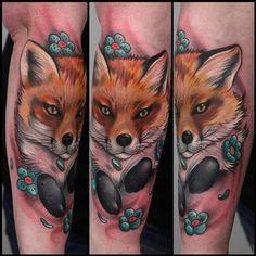 Aimee Cornwell - Fox and flowers