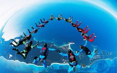SkyDiving..For the brave hearts..!!