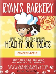 Ryan's Barkery - Healthy Dog Treats. My border collie loves these!!!