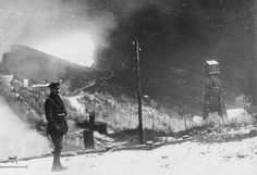 THE ROMANIAN ARMY IN THE ROMANIAN CAMPAIGN, 1916-1918. Fire at oil refineries, Buzau, 1916.
