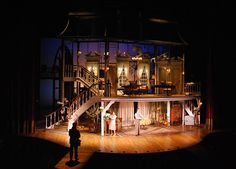 The 2014 Tony winner for Best Scenic Design Of A Play, Beowulf Boritt spins the audience through multiple locations in Act One, written and directed by James Lapine, and based on the autobiography of playwright Moss Hart. Design Set, Stage Set Design, Set Design Theatre, Alvin Ailey, Royal Ballet, Dark Fantasy Art, Mary Poppins, Beowulf, Scenic Design