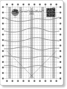 Creative Grids Curved Slotted Ruler