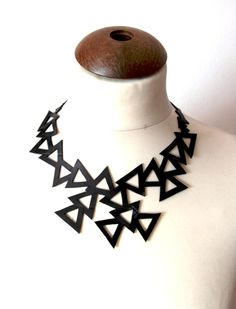 Triangles - Recycled Inner Tube Necklace