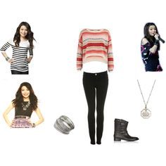 Carly Shay Style Season 4-5 of iCarly by xoxheyheyxox on Polyvore featuring Dorothy Perkins, Miss Selfridge, Belstaff and Sophia & Chloe