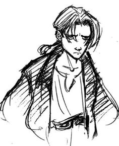 Jim Hawkins Concept Sketch. He certainly is a morning person, isn't he ... Not!