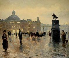 Floris Arntzenius (1864-1925) - Place animée, La Haye