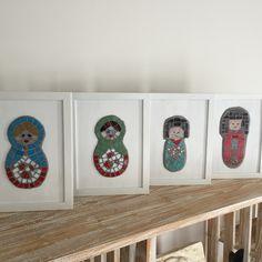 Kokeshi dolls and Matroyska dolls. Mosaic' dog course! Completed 2015