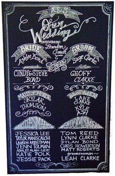 Chalkboard Art Sign for your Wedding or Event by watermelonstand, $195.00