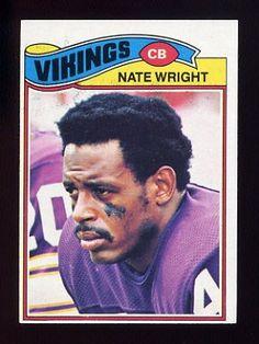 #57 Nate Wright career similar to  Zeke Moore.1977 Topps Football