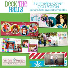 Deck The Halls Timeline Cover Collection  5 by fototaledesigns, $10.00