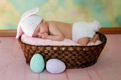 Easter Bunny Hat and Diaper Cover Photography Prop by makinitmama, $20.00