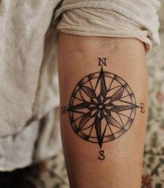 Compass Temporary Tattoo