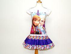 girls dress from FROZEN Elsa and Anna Shirt    by GerlieCreations, $45.00