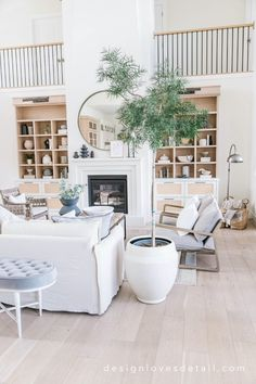 Living Room Grey, Home And Living, Living Room Decor, Living Rooms, White Family Rooms, Spring Home Decor, Amazing Decor, Love Your Home, House Rooms