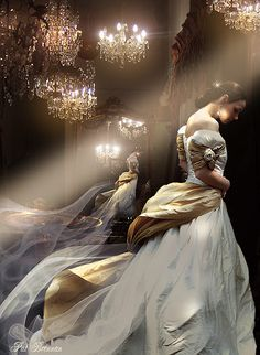Fantasy wedding dress for the princess.