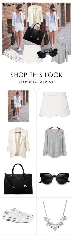 """Sheinside 10/III"" by aneela-57 ❤ liked on Polyvore featuring MICHAEL Michael Kors, Converse and Givenchy"