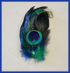 Peacock Boutonniere Unisex Brooch Wedding Prom by STAROSECREATIONS, $15.00