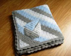 Handmade baby boy blanket