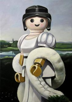 Storia dell'arte con i playmobil: giocattoli protagonisti dei celebri quadri