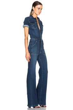 a8ef42c8ac8 Image 3 of FRAME Denim Le Flare De Francoise Jumpsuit in Lamarr Jumpsuit  Outfit, Jeans