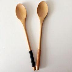 beechwood wooden long handle icecream scoops coffee spoon stirring spoon soup spoon
