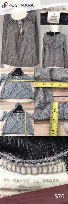 ⛲️Small Anthro Pure + Good Gray Hooded Sweatshirt Measurements are in photos. Normal wash wear, no flaws. B3/32  I do not comment to my buyers after purchases, due to their privacy. If you would like any reassurance after your purchase that I did receive your order, please feel free to comment on the listing and I will promptly respond.   I ship everyday and I always package safely. Thank you for shopping my closet! Anthropologie Tops Sweatshirts & Hoodies