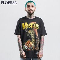 FLOERSA Summer T-shirts Men T Shirts Black 2017 Brand Fashion New T Shirt O-Neck Cotton Printing Mens Tops Tees #C50925