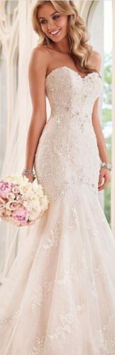 Elegant Tulle Organza Sweetheart Neckline Natural Waistline Mermaid Wedding Dress With Beaded Lace Appliques #weddingdress