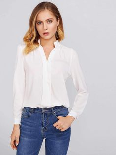 Get comfy now - and never pay too much again! Mock Neck Blouse now on c22047e7e