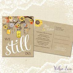Sunflower Vow Renewal Postcard  We Still by WillowLaneStationery, $18.00