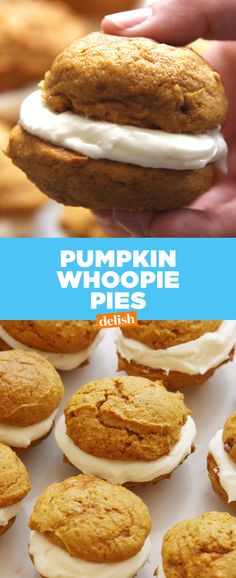 Let's be honest... Pumpkin Whoopie Pies are one of the best fall desserts of all time. Get the recipe at Delish.com.