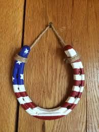 Items similar to American Flag Horseshoe, Hand-painted horseshoe, Hanging horseshoe, patriotic, red white and blue on Etsy Horseshoe Projects, Horseshoe Crafts, Lucky Horseshoe, Horseshoe Art, Horseshoe Decorations, Horseshoe Ideas, Western Crafts, Western Decor, What To Make