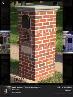 Brick Mailbox Post Ideas