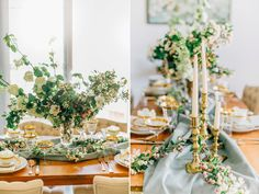 The Botanique Blog: Spring Bridal Brunch with Blooming Branches  | Flowers: Botanique Photography: Lora Grady Photography  Vintage furniture and props Vintage Ambiance