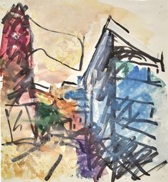 View TO THE STUDIOS by Frank Auerbach on artnet. Browse upcoming and past auction lots by Frank Auerbach. Frank Auerbach, Modern Art, Contemporary Art, David Bowie Art, Unusual Art, Watercolor Sketch, Global Art, Art Market, Art Day