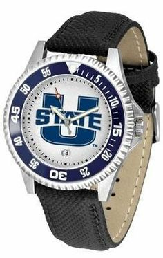 Utah State Aggies NCAA Mens Leather Wrist Watch by SunTime. $68.95. Officially licensed. 1 year limited manufacturer warranty. The Competitor Watch With Poly / Leather Band is the hottest design in watches today! A functional rotating bezel is color-coordinated to compliment your favorite team logo. A durable long-lasting combination nylon/leather strap together with a date calendar round out this best-selling timepiece.This watch comes with a 3 year limited manufactu...